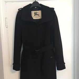 Burberry wool/cashmere coat, size 8